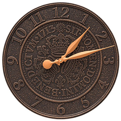 Three Crowns In Coin 16-in Personalized Indoor Outdoor Wall Clock - 02253 by Whitehall