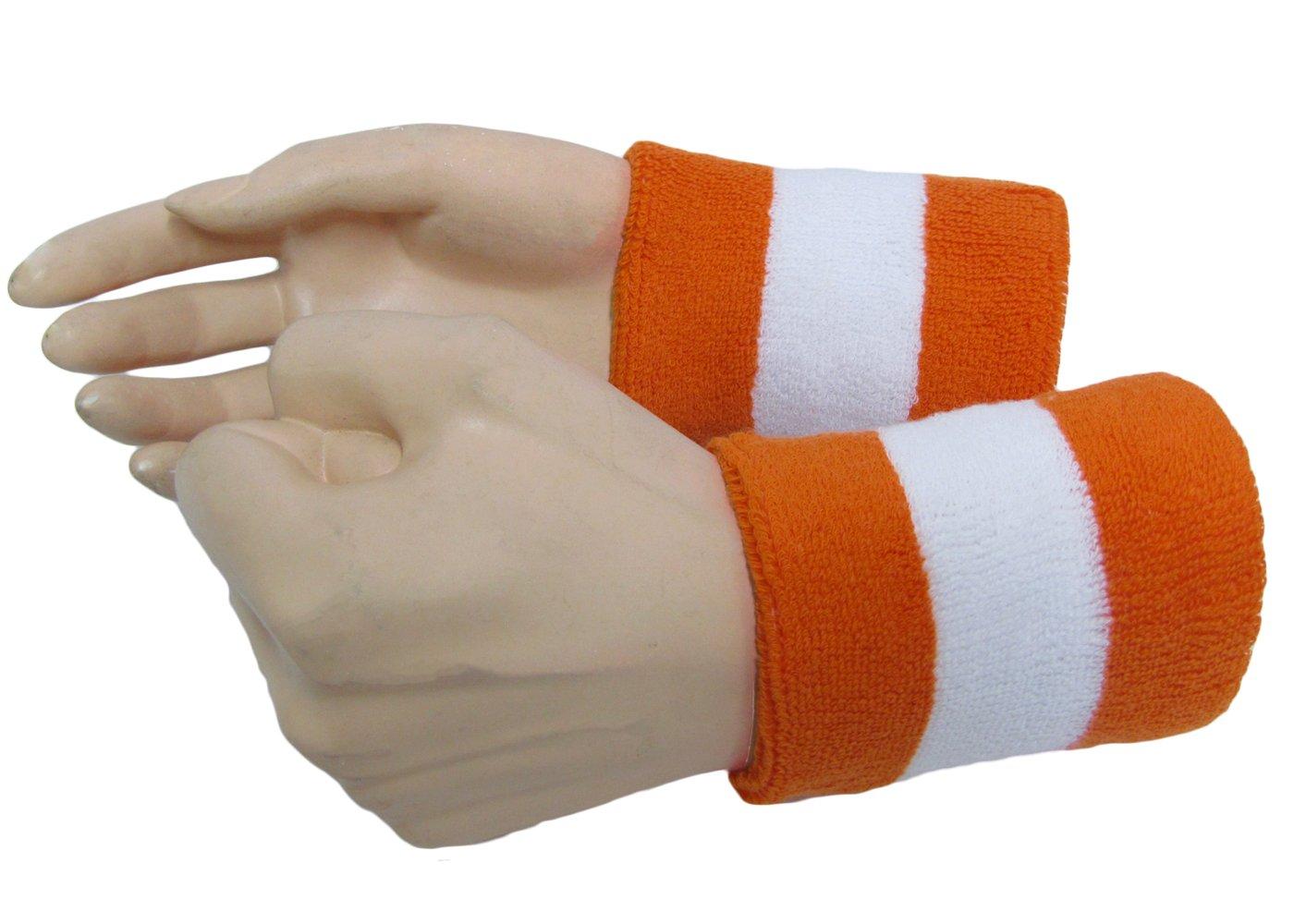 semi-pro Jackie Moon Halloweenホワイトオレンジホワイトコットンテリー布手首汗バンド   B01M01UODV