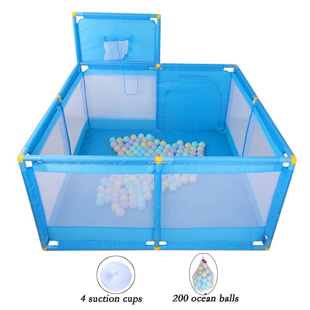 XJJUN ベビーサークル ゲームフェンス おもちゃの公園 オーシャンボール クロールマット 吸盤 屋内 高まり 安全性 、5種類のパッケージ (Color : C, Size : 128X128X66CM) 128X128X66CM C B07V7VYZ8Z