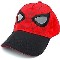 Marvel Spider-Man Mask Face Eyes Baseball Cap Hat, Boys Ages 3-10