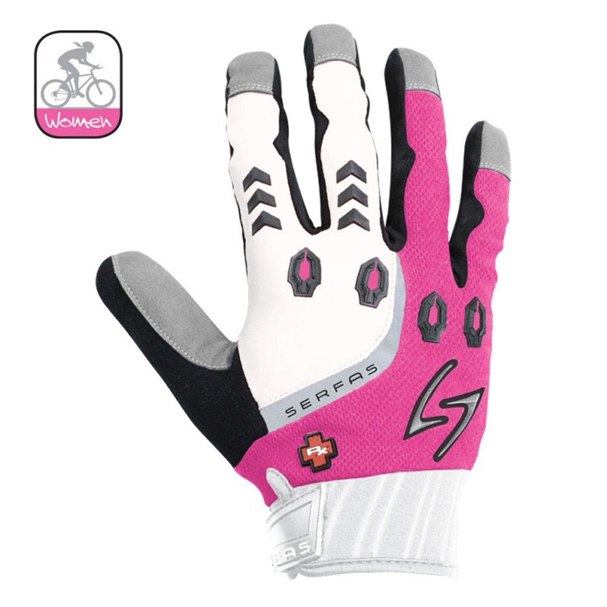 Serfas Womens Full Finger RX Gloves GWRXF-BKBK-4-parent