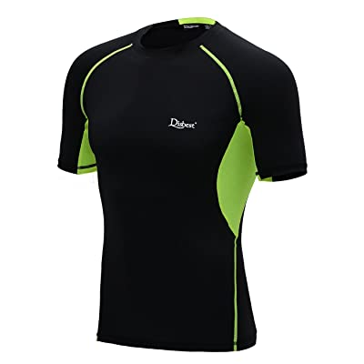 DISBEST Men's Sport T-Shirt, Quick Dry Short Sleeves Performance Compression Tops