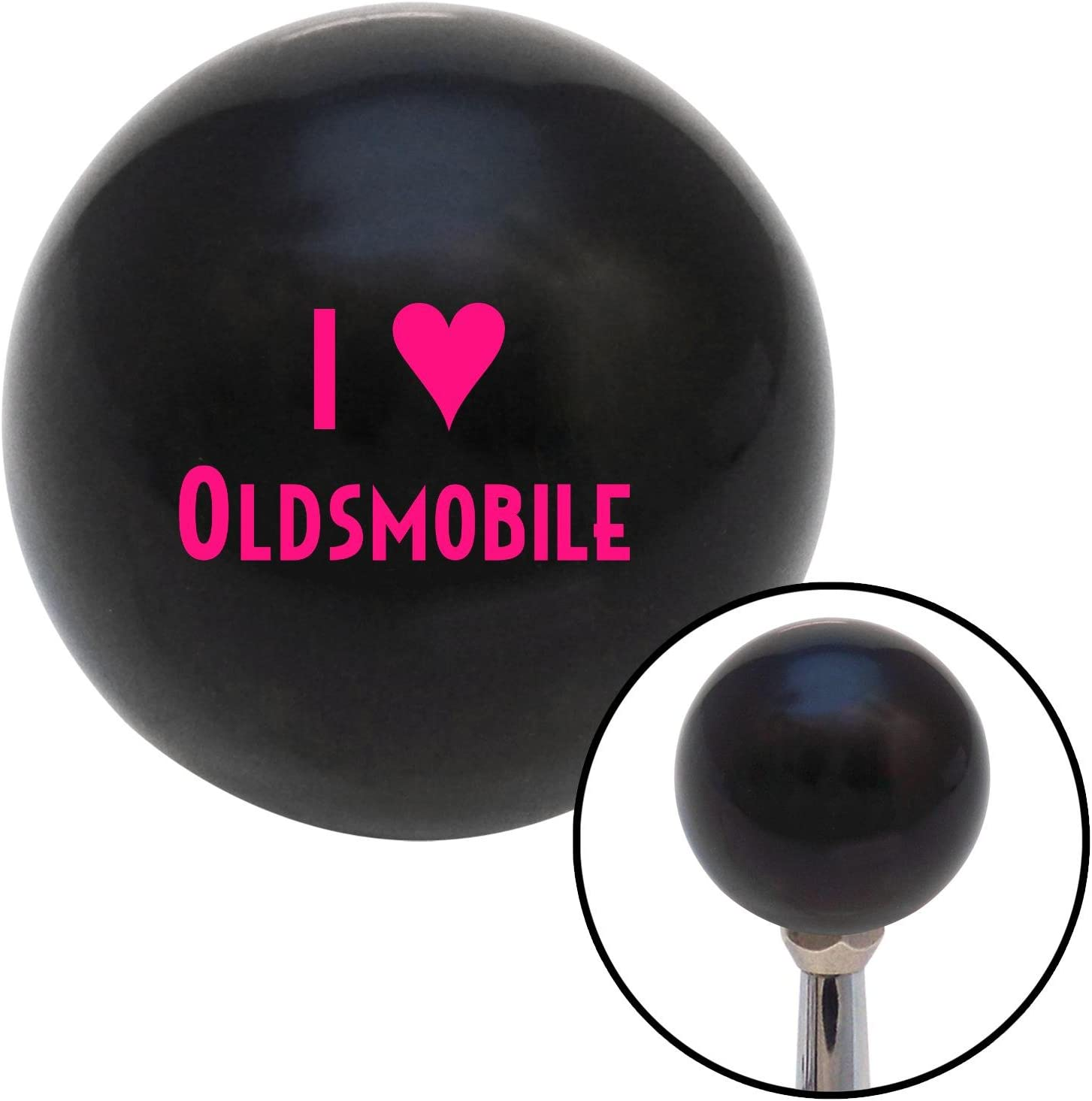 Pink I 3 Oldsmobile American Shifter 105802 Black Shift Knob with M16 x 1.5 Insert