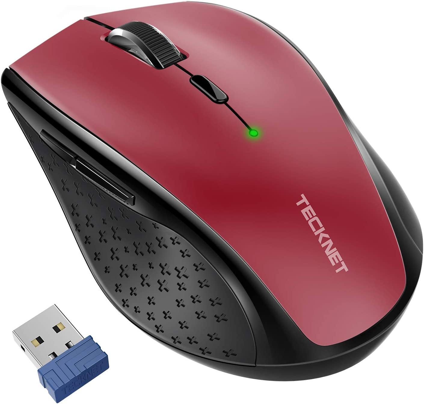 TeckNet Classic 2.4G Portable Optical Wireless Mouse with USB Nano Receiver for Notebook,PC,Laptop,Computer,6 Buttons,30 Months Battery Life,4800 DPI,6 Adjustment Levels