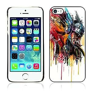 A-type Arte & diseño plástico duro Fundas Cover Cubre Hard Case Cover para Apple iPhone 5 / 5S ( Enfriar Thor Arte Pintura )