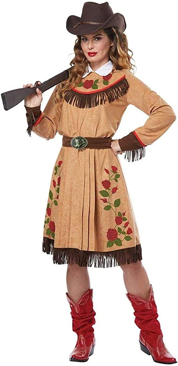 Make an Easy Victorian Costume Dress with a Skirt and Blouse Womens Annie Oakley Cowgirl Halloween Costume $44.99 AT vintagedancer.com