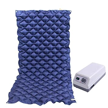 Anti BEDSORE colchones inflables presión alterna colchón de vuelta hogar cuidado Pad adecuado postrado paciente de edad avanzada,Blue,190x90cm: Amazon.es: ...