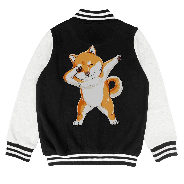 PoPBelle Kids Dabbing Doge Shiba Inu Teen Girls Track Jacket for Girls Boys Toddler Cozy Coats