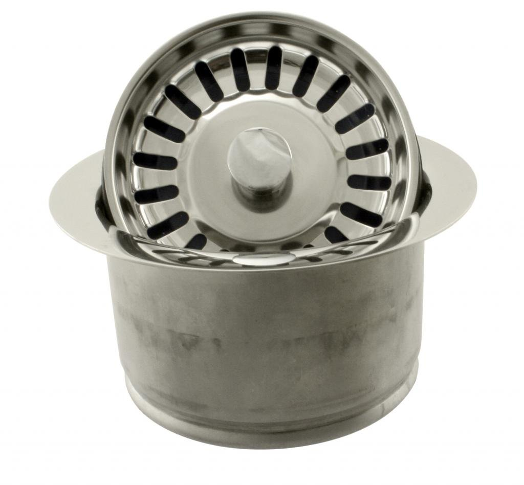 Westbrass InSinkErator Style Extra-Deep Disposal Flange and Strainer, Polished Nickel, D2082S-05