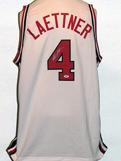 dc1cdb16ea5 Image Unavailable. Image not available for. Color  Christian Laettner  Autographed Signed USA Jersey