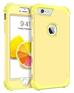 BENTOBEN Funda iPhone 6 Plus, Funda iPhone 6s Plus, 3 en 1 Carcasa Combinada PC Híbrido y Silicona TPU Resistente PC Bumper Antigolpes Protectora ...