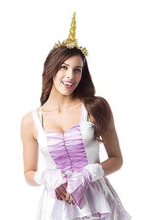 JeVenis Rainbow Unicorn Cinta Pelo Orejas Unicornio Disfraz Festival  Sombreros de Fiesta 9ed140951d1d