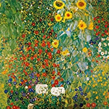 Posters: Gustav Klimt Poster Art Print - Cottage Garden With Sunflowers, 1905-06 (16 x 16 inches)
