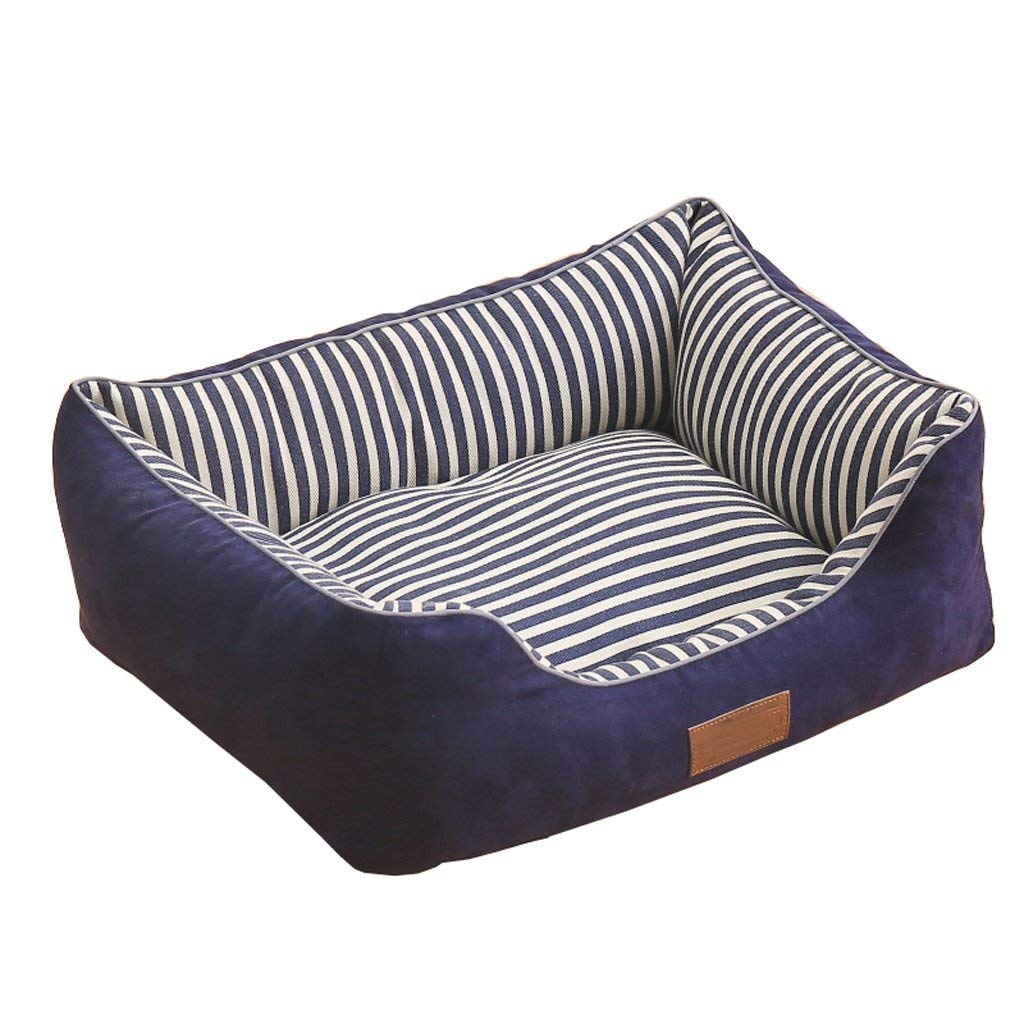 S LZQ-CWW Cat And Dog Pet Bed, Thick And Soft, Non-slip Moisture proof, Four Seasons Universal Removable And Washable for All Types of Pets (Size   S)