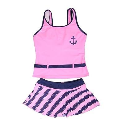 Saymequeen Girl's Two-Piece Swimwear Swimsuit Kids Bathers Swimsuit