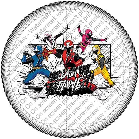 Power Rangers Ninja Edible Cake Topper or Cupcake Topper Decorations (2