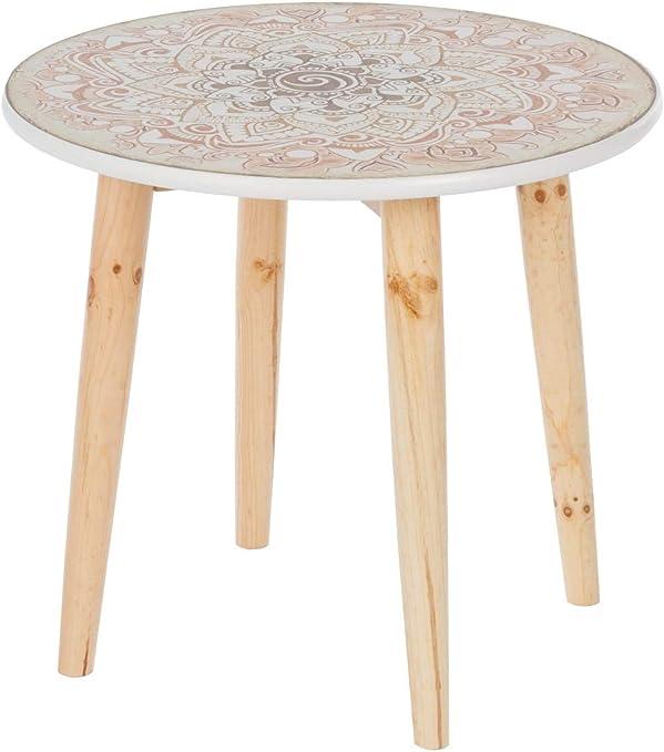Tavolino da Salotto Cali-Mango in Legno Massiccio Kreativa /Ø 45 x 0,46 cm