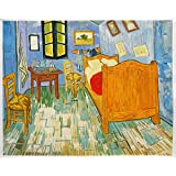 Vincent's Bedroom in Arles 1889 - Vincent Van Gogh High Quality Hand-painted Oil Painting Reproduction (28.74 X 36.22 In.)