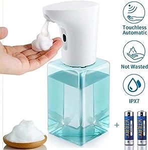 POLARDOR Foaming Soap Dispenser, Dishwasher Auto Soap Dispenser,2 Adjustable Dispensing Volume, Eliminate Cross-Contamination,Blue