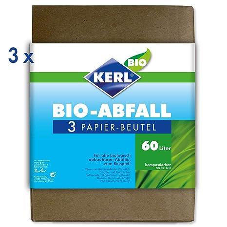 Kerl 4003450023571 - Bolsas de basura ecológicas (60 l, 3 ...