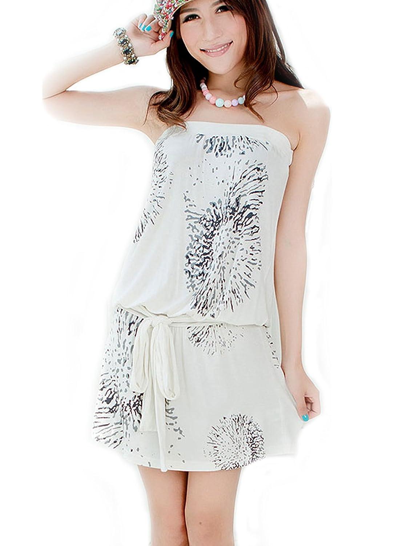 AIDI Print Modal Fabric Strapless Outfit Combo Pyjamas Sleepshirts Lounge Leisure ware
