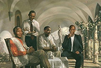 Amazoncom The Pioneers Poster Mandela Malcolm X Obama Martin