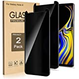 (2 Pack) Galaxy Note 9 Screen Protector Privacy Tempered Glass Film, 3D Curved Edge Easy Install Anti Spy/Scratch 9H…