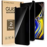(2 Pack) Galaxy Note 9 Screen Protector Privacy Tempered Glass Film, 3D Curved Edge Easy Install Anti Spy/Scratch 9H Hardness
