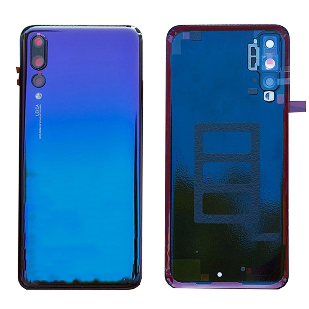 Battery Housing Door Cover Back Case Replacement with Camera Lens for Huawei P20 Pro CLT-L04 CLT-L09 CLT-L09C CLT-L29 CLT-L29C CLT-AL00 CLT-AL01/P20 Plus 6.1'' Purple Blue by General