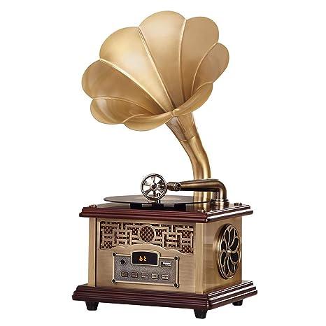 QAZWSX Bluetooth Gramófono, Fonógrafo Incorporado De Alta ...