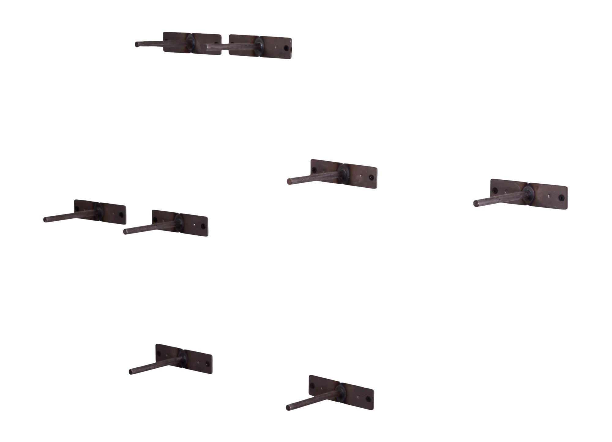 DAKODA LOVE Routed Edge Floating Shelves, USA Handmade, Clear Coat Finish, 100% Countersunk Hidden Floating Shelf Brackets, Beautiful Grain Pine Wood Wall Decor (Set of 4) (Bourbon) by DAKODA LOVE (Image #5)