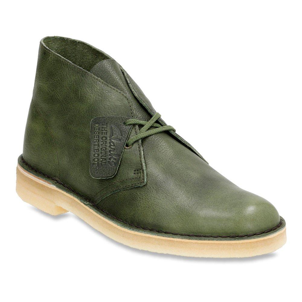 CLARKS Originals Men's Green Leather Desert Boot 9.5 D(M) US