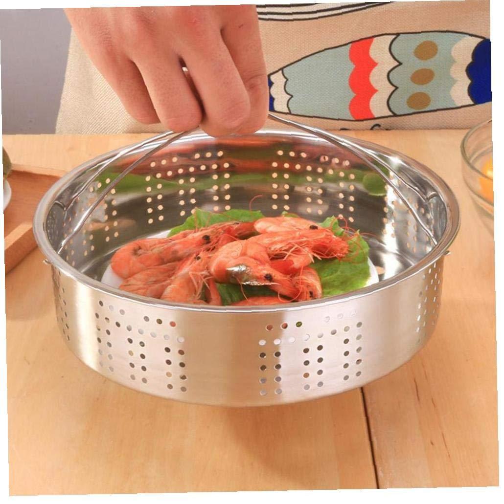Cuisine Passoire Steamer Steamer en Acier Inoxydable Rice Cooker Vapeur instantan/ée Pot /à Vapeur Panier avec poign/ée en Silicone