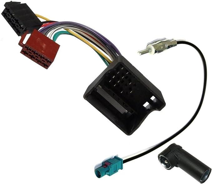 AERZETIX: Adaptador con ISO cables enchufes y antena para autoradio C4324C2830C1871