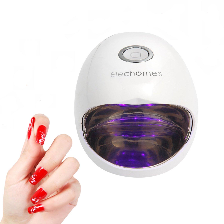 Amazon.com : Elechomes 6W Mini Nail Dryer Portable LED UV Nail Lamp ...