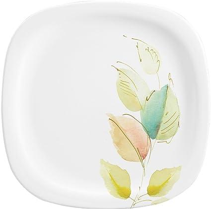 Servewell Bay Leaves Square Round Melamine Dinner Plate Set 28cm Set of 6  sc 1 st  Amazon.in & Buy Servewell Bay Leaves Square Round Melamine Dinner Plate Set ...