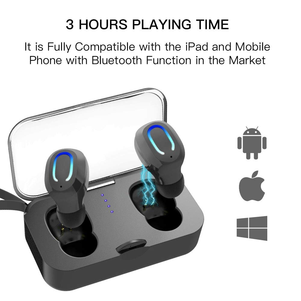 Wireless Earbuds,Wireless Headphones Bluetooth 5.0,True Wireless Earbuds with mic,Noise Cancelling Headphones,IPX6 Waterproof Bluetooth Earbuds, Sport Bluetooth Headset for Phone