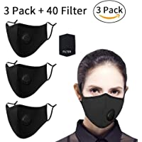 $23 » 40 Pcs Filter Replacements by seilliet, Filters for Fashion Protective Face Shield, Unisex Face Mask, Reusable Washable Breathable Mouth Masks