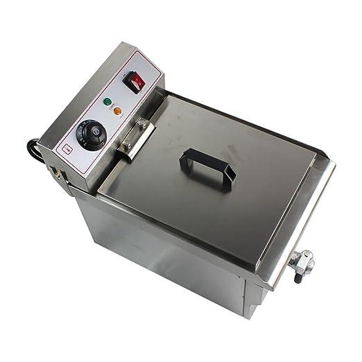 oukaning freidora eléctrica con control de la temperatura, freidora (acero inoxidable, 10 litros, 230 V, ...