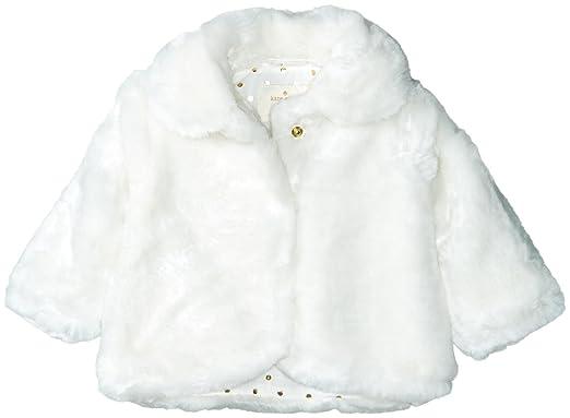 02084c85d Amazon.com  Kate Spade New York Girls  Babies  Faux Fur Jacket  Clothing