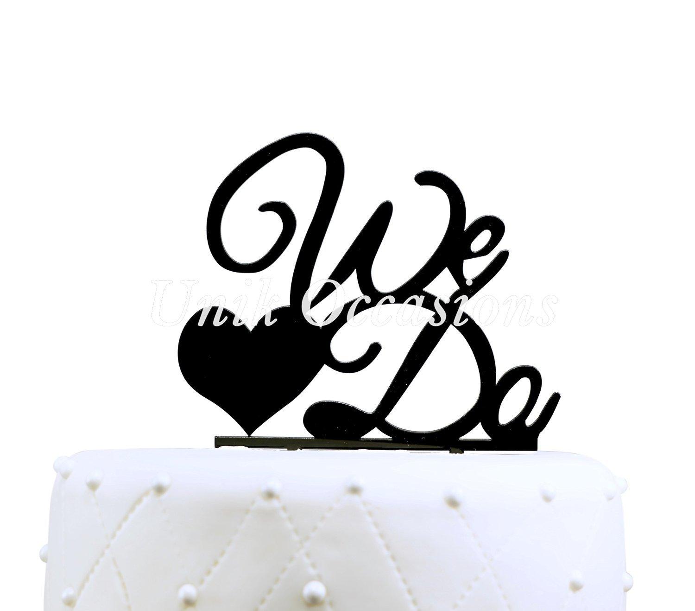 Amazon.com: Buythrow We Do Cake Topper,personalized Wedding Cake ...