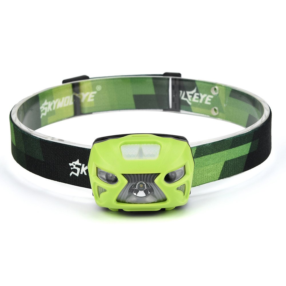 LED Headlamp Flashlight,Hessimy Lantern Extreme Bright 3000 Lumen XPE LED IR Sensor USB Portable Plastic Rechargeable Lamp For Camping Hiking Hunting Travel Outdoor F043 (Green)