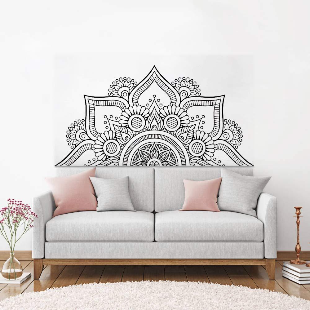 Nuevo diseño medio mandala pegatinas de pared para el ...