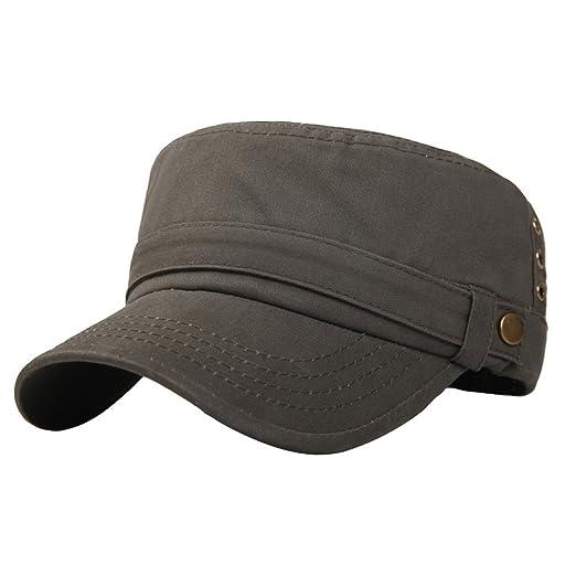 764dcfa6 Mens Cotton Running Cadet Flat Top Twill Corps Military Army Baseball Cap  Hat