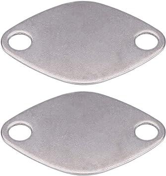 Placa de obturaci/ón de EGR-V/álvula de EGR Kit de placas de bloqueo para RENAULT ESPACE LAGUNA MASTER TRAFIC VAUXHALL MOVANO