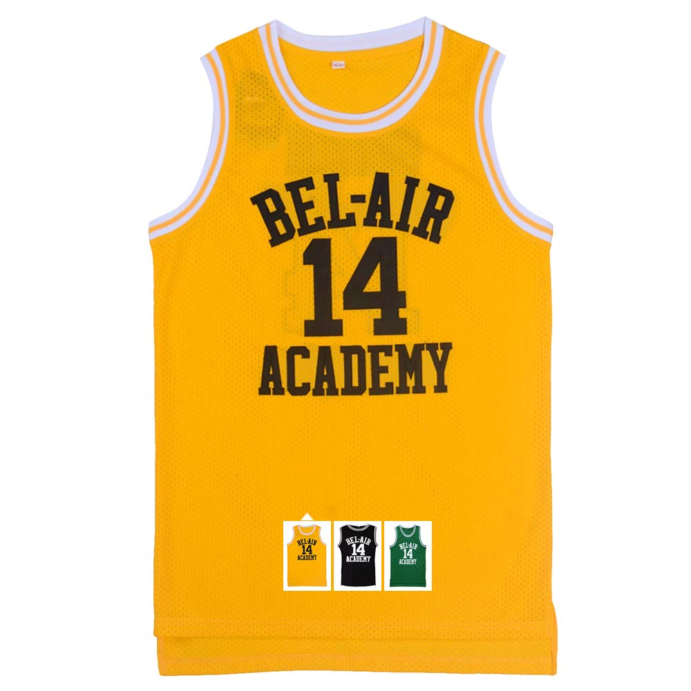 Yeee JPEglN Will Smith  14 The Fresh Prince Bel Air Academy Basketball Jersey X-XXL