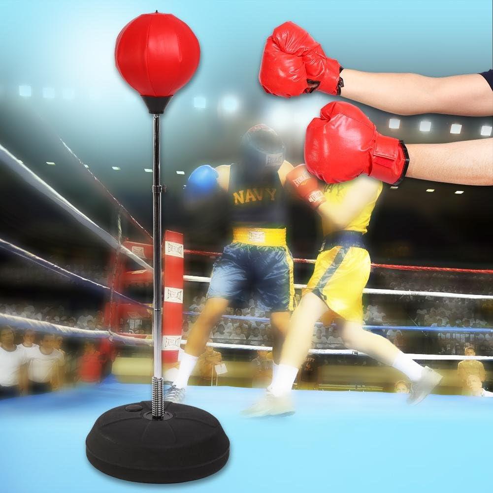 Punching ball para boxeo ajustable en altura de 120/a 150/cm para adultos y adolescentes con guantes de boxeo