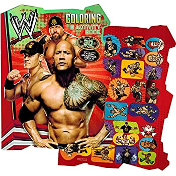 Amazoncom WWE Coloring Book Set with Stickers and Posters 2