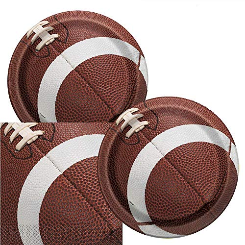 Football Game Day Birthday Party Plates & Napkins Serves 16 -