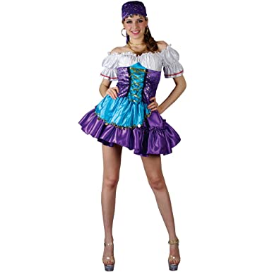 Size XL UK 14-16 Gypsy Princess Fortune Teller Ladies 2 Piece Costume NEW.
